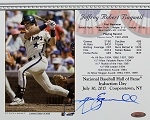 Jeff Bagwell Autographed Hall of Fame Induction 8x10 Card
