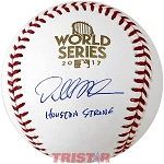 Dallas Keuchel Autographed 2017 World Series Baseball Inscribed Houston Strong