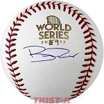 Brad Peacock Autographed 2017 World Series Baseball