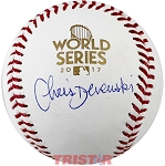 Chris Devenski Autographed 2017 World Series Baseball