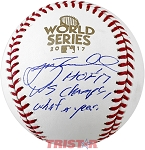 Jeff Bagwell Autographed 2017 World Series Baseball Inscribed HOF, WS Champs