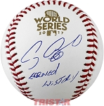 Craig Biggio Autographed 2017 World Series Baseball Inscribed Earned History