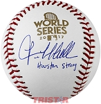 Lance McCullers Autographed 2017 World Series Baseball Inscribed Houston Strong