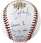 Marwin Gonzalez Autographed 2017 World Series Baseball Inscribed Series Flipped