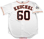Dallas Keuchel Autographed Houston Astros Replica Jersey with WS Champs Patch