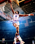 Julius Erving Autographed Philadelphia 76ers 16x20 Photo Inscribed HOF 93