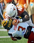 Malik Jefferson Autographed Texas Longhorns 16x20 Photo