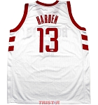 James Harden Autographed Houston Rockets White Custom Jersey