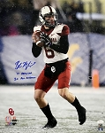Baker Mayfield Autographed Oklahoma Sooners in Snow 16x20 Photo Inscribed 17 Heisman