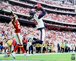 DeAndre Hopkins Autographed Houston Texans TD Catch vs Chiefs 16x20 Photo