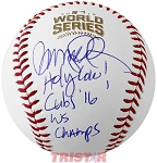 Ryne Sandberg Autographed 2016 World Series Baseball Inscribed Holy Cow WS Champs