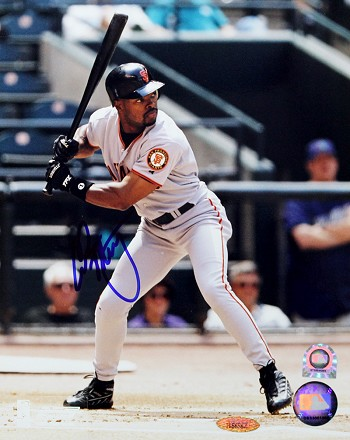 Calvin Murray Autographed San Francisco Giants 8x10 Photo
