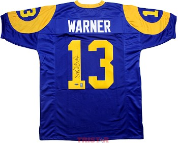 Kurt Warner Autographed St. Louis Rams Custom Throwback Jersey