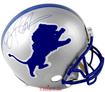 sports shoes 5b0b7 0edea Barry Sanders Autographed Detroit Lions Authentic Full Size Helmet