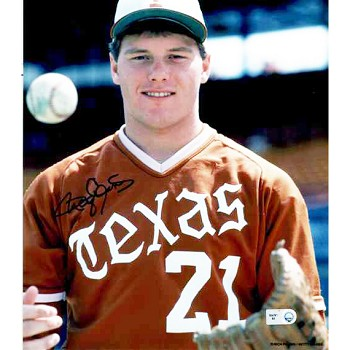 Roger Clemens Autographed University of Texas Longhorns 8x10 Photo