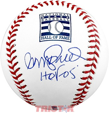 Ryne Sandberg Autographed Hall of Fame Baseball Inscribed HOF 05