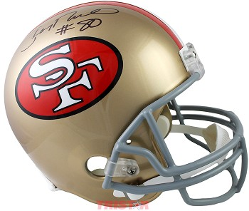 Jerry Rice Autographed San Francisco 49ers Throwback Replica Full Size Helmet