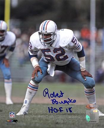 41385a8e Robert Brazile Autographed Houston Oilers 8x10 Photo Inscribed HOF ...