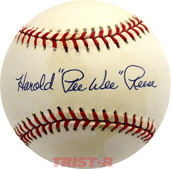 Harold 'Pee Wee' Reese Autographed Official National League Baseball