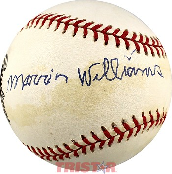 Marvin Williams Autographed National League Baseball