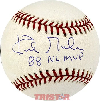 Kirk Gibson Autographed Official Major League Baseball Inscribed 88 NL MVP