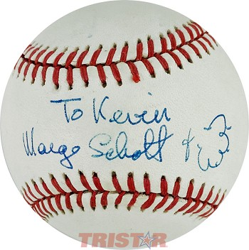 Marge Schott Autographed Official National League Baseball