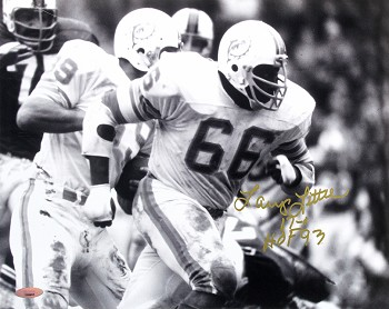 Larry Little Autographed Miami Dolphins 11x14 Photo Inscribed 17-0, HOF 93
