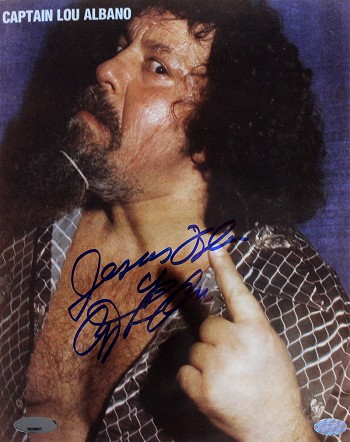 Captain Lou Albano Autographed 8x10 Photo