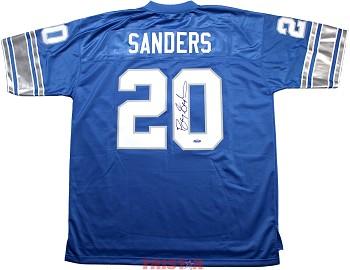 competitive price 514ac 2f003 Barry Sanders Autographed Detroit Lions NFL ProLine Jersey