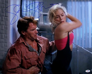 Sharon Stone Autographed Total Recall 16x20 Photo