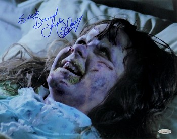Linda Blair Autographed Exorcist Demon 11x14 Photo Inscribed Sweet Dreams