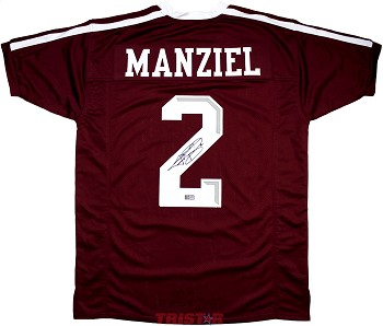 finest selection 3ecb4 10c19 Johnny Manziel Autographed Texas A&M Custom Maroon Jersey