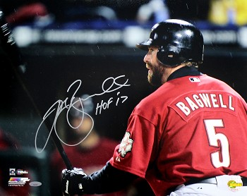 Jeff Bagwell Autographed Houston Astros 16x20 Photo Inscribed HOF 17