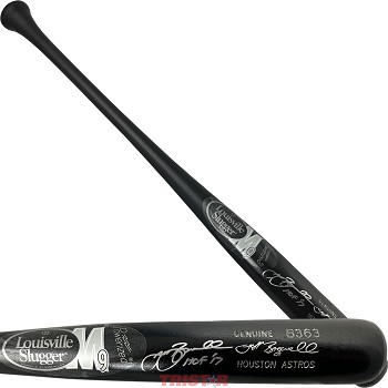 Jeff Bagwell Autographed Louisville Slugger Game Model Bat Inscribed HOF 17