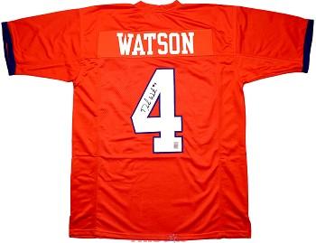 Deshaun Watson Autographed Clemson Tigers Orange Custom Jersey