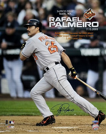 Rafael Palmeiro Autographed Baltimore Orioles 3000th Hit Commemorative 16x20 Photo