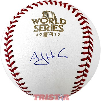 A.J. Hinch Autographed 2017 World Series Baseball