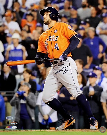 George Springer Autographed Astros 2017 World Series 16x20 Photo