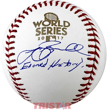Jeff Bagwell Autographed 2017 World Series Baseball Inscribed Earned History