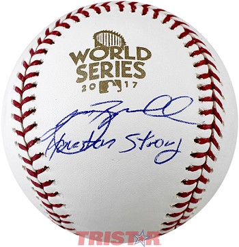 Jeff Bagwell Autographed 2017 World Series Baseball Inscribed Houston Strong