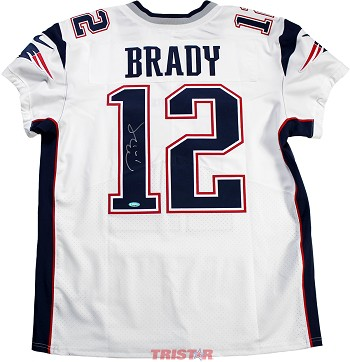 Tom Brady Autographed New England Patriots Nike 'Elite' White Authentic Jersey