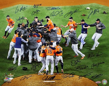 Houston Astros Team Autographed 2017 World Series 16x20 - Verlander, Springer & 20 More