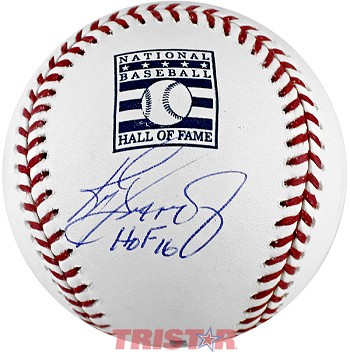 Ken Griffey Jr. Autographed Hall of Fame Logo Baseball Inscribed HOF 16