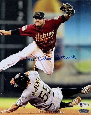 Jose Altuve Autographed Houston Astros 8x10 Photo with Full Name Signature