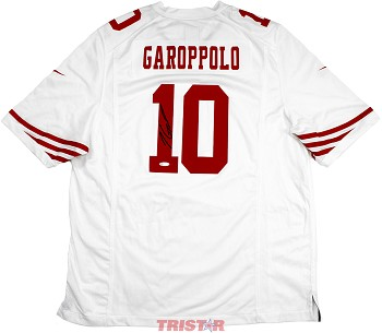 competitive price 4c382 c445f Jimmy Garoppolo Autographed San Francisco 49ers Nike 'Game' White Replica  Jersey