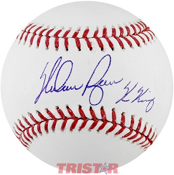 Nolan Ryan Autographed Official ML Baseball Inscribed K King