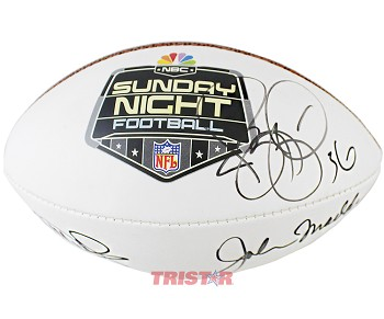 John Madden, Jerome Bettis & Al Michaels Autographed Wilson NFL Mini Football