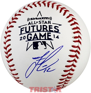 Francisco Lindor Autographed 2014 Futures Game Baseball