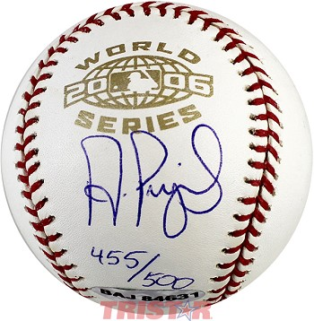 Albert Pujols Autographed 2006 World Series Baseball Limited Edition 455/500