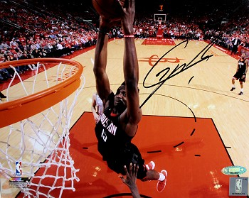 385460b70ed Clint Capela Autographed Houston Rockets Dunk Close-up 8x10 Photo